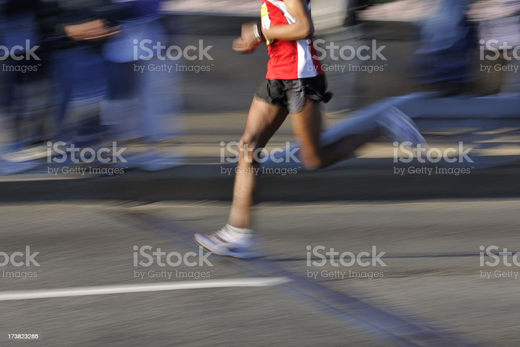 Athletic Runner Motion Blur royalty-free stock photo