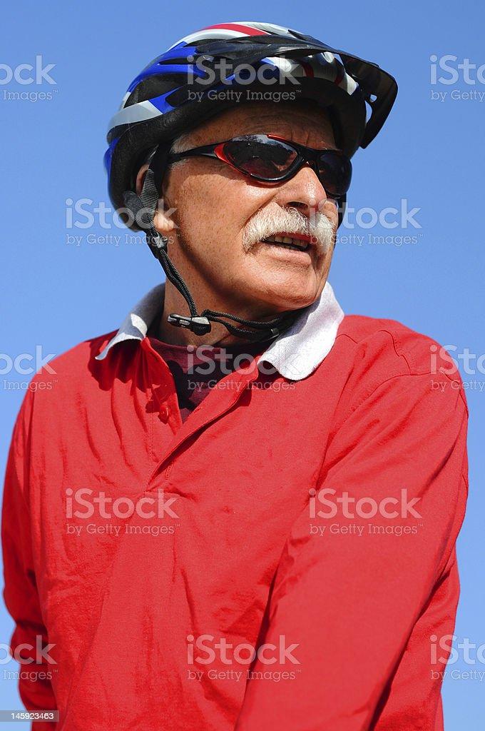 athletic senior man royalty-free stock photo