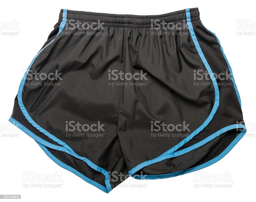 Athletic shorts on white stock photo