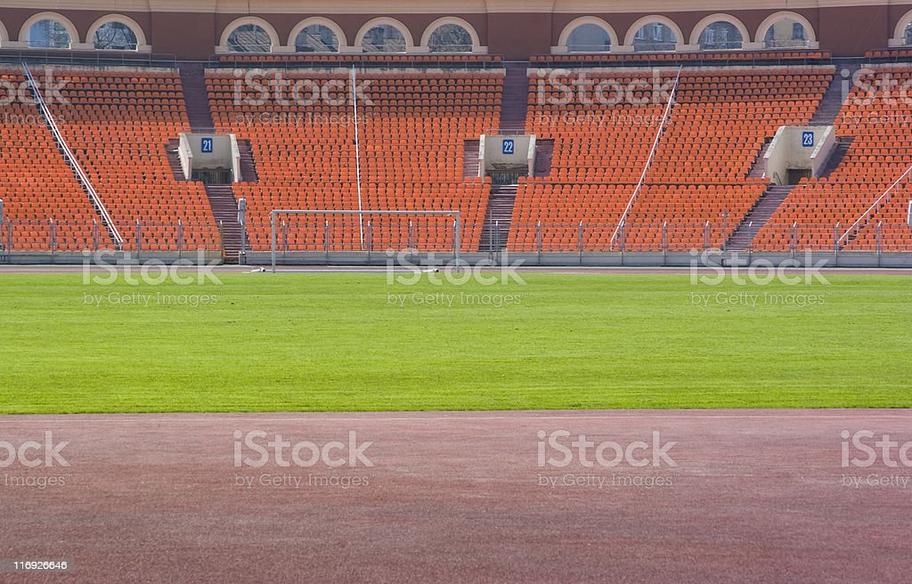 Athletic stadium stock photo
