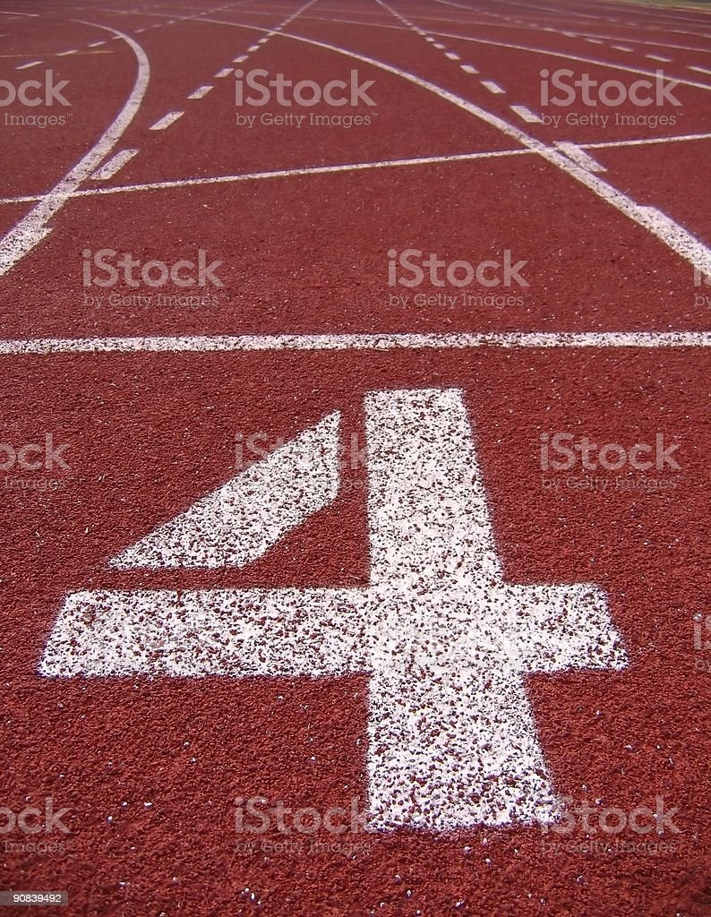 Athletic Surface Markings -- Number Four stock photo