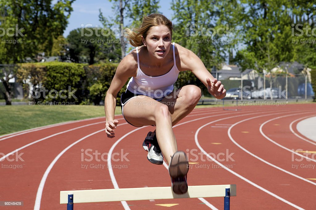 Athletic Woman at the track royalty-free stock photo