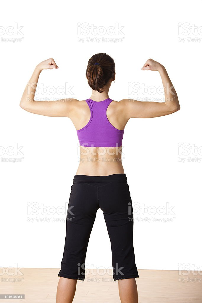 Athletic young woman royalty-free stock photo