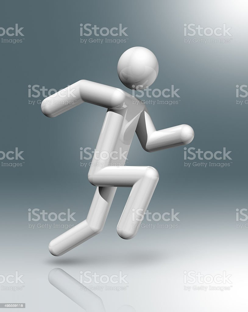 Athletics 3D symbol stock photo