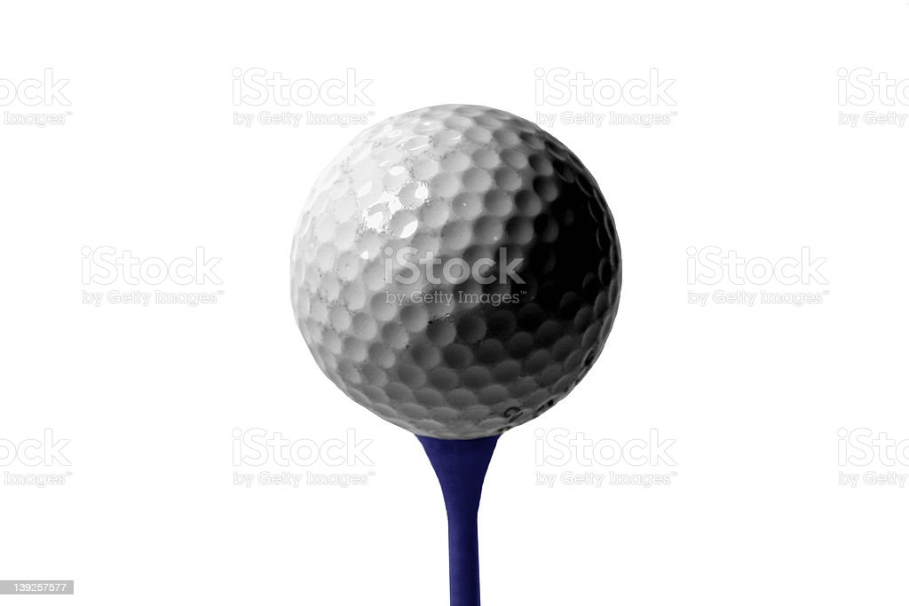 Athletics - Ball and Tee royalty-free stock photo