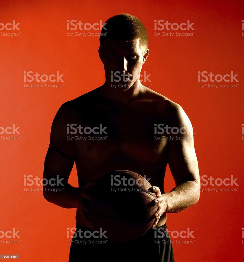 Athletics - Basketball Silhouette royalty-free stock photo