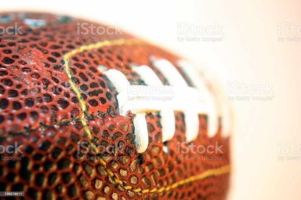 Athletics - Football Seams stock photo
