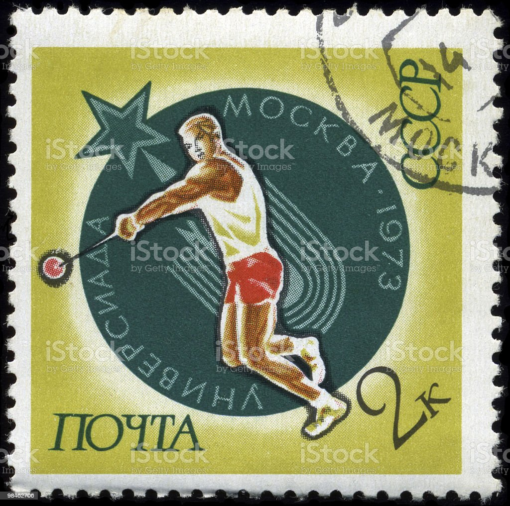 USSR - CIRCA 1973 Athletics stock photo
