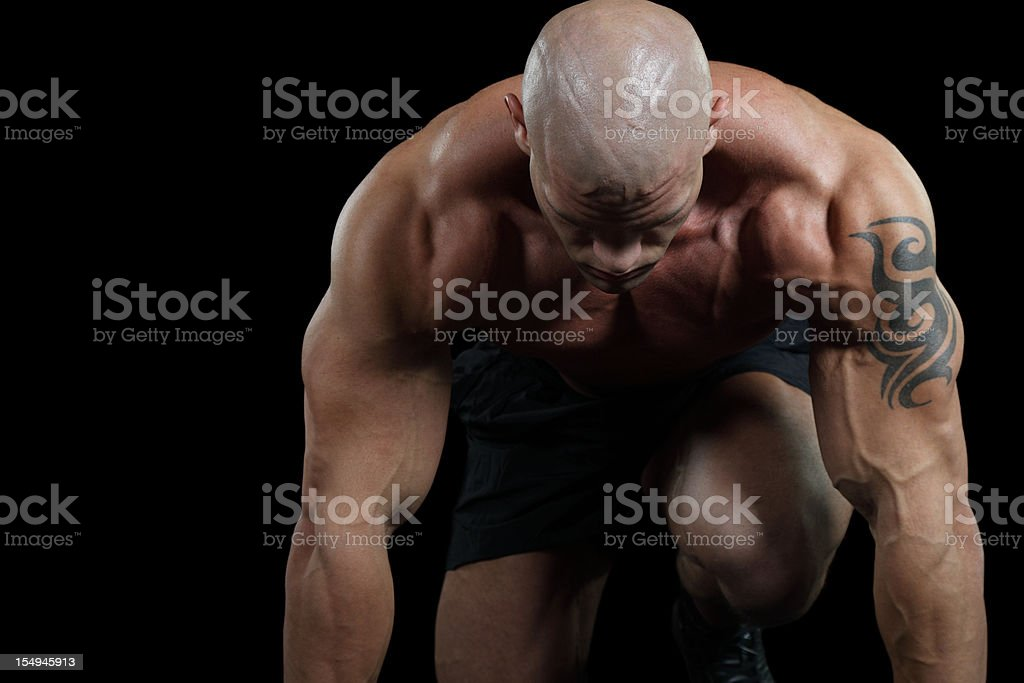 Athletics start royalty-free stock photo