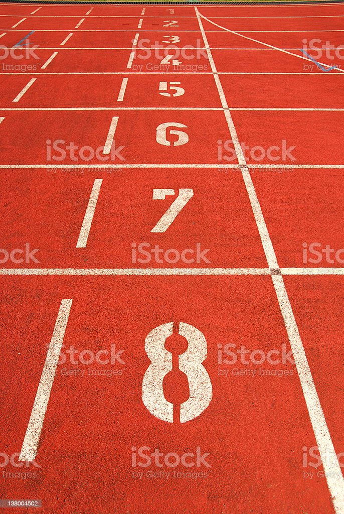 Athletics Starting Line royalty-free stock photo