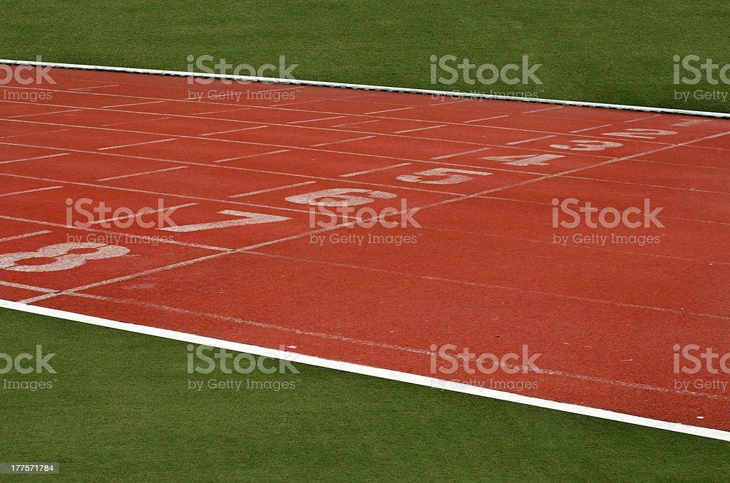 Athletics Track Lane royalty-free stock photo