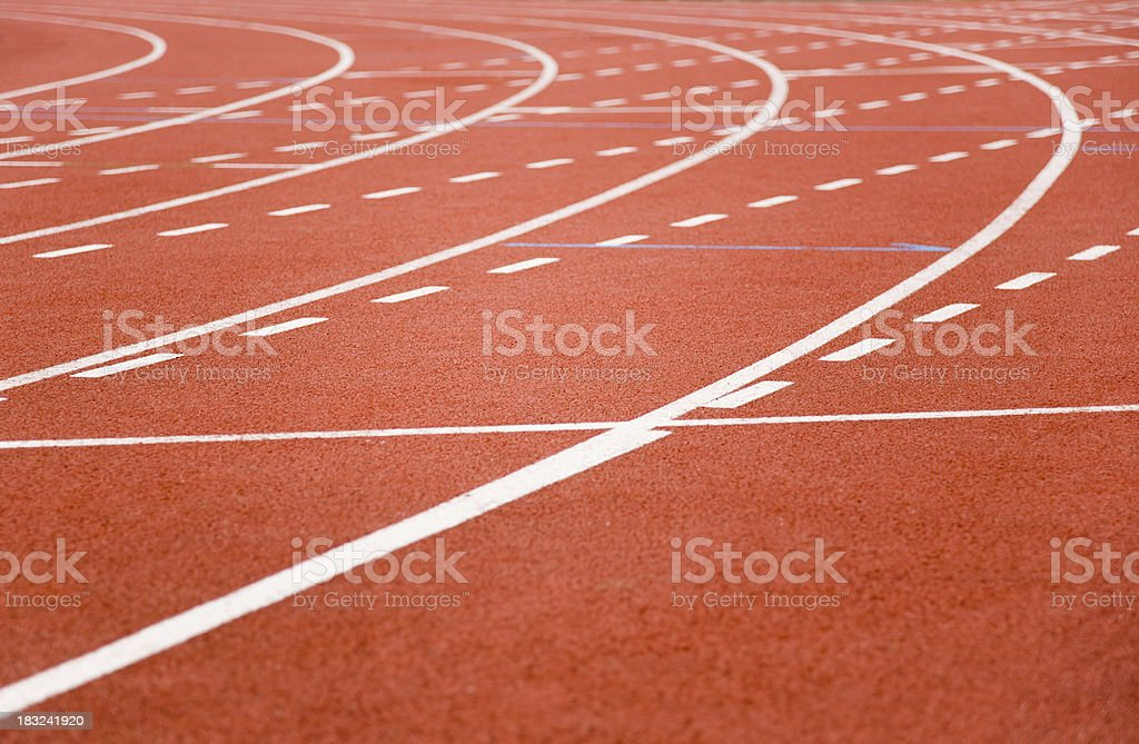Athletics Track stock photo