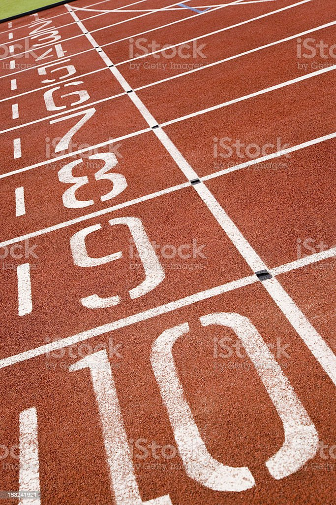 Athletics Track royalty-free stock photo