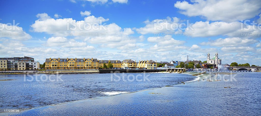 Athlone city and Shannon river stock photo