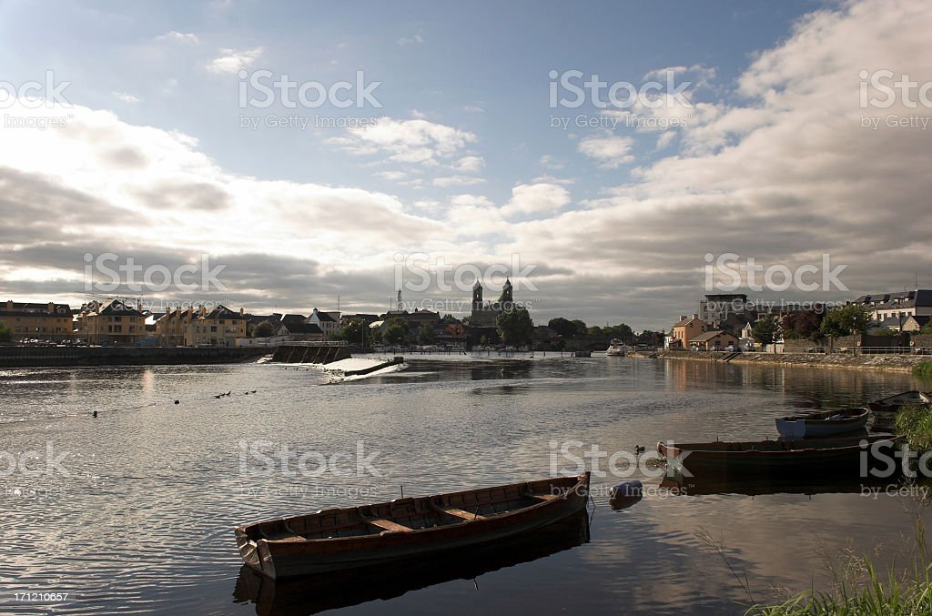 Athlone river boats stock photo
