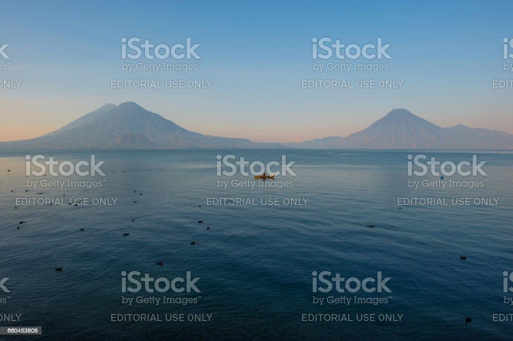 Atitlan Lake Fisherman stock photo