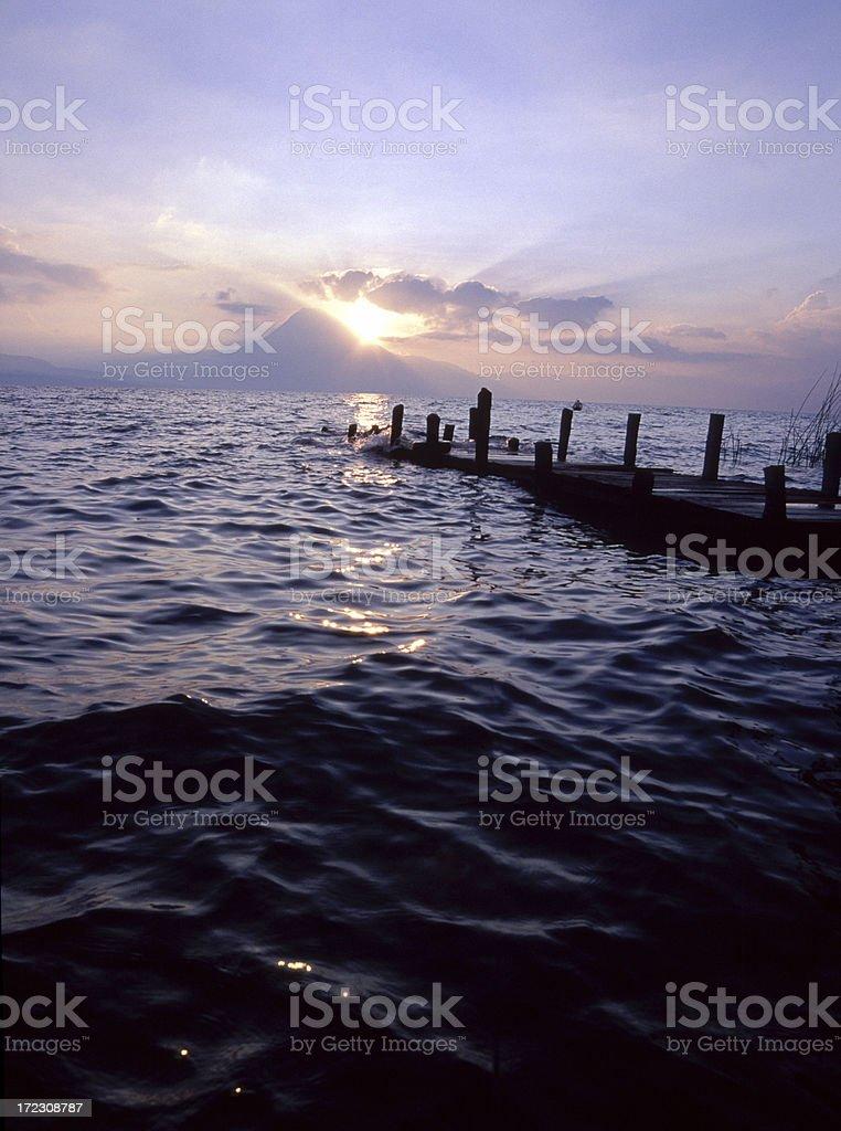 Atitlan Lake, Guatemala royalty-free stock photo