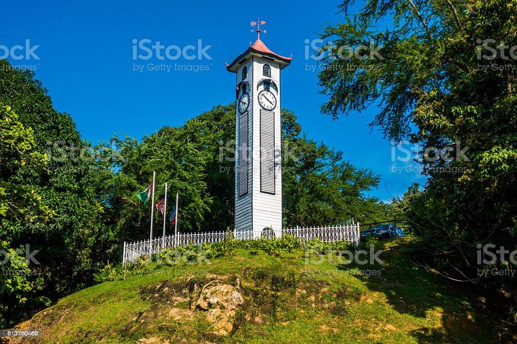 Atkinson Clock Tower, Kota Kinabalu Malaysia stock photo