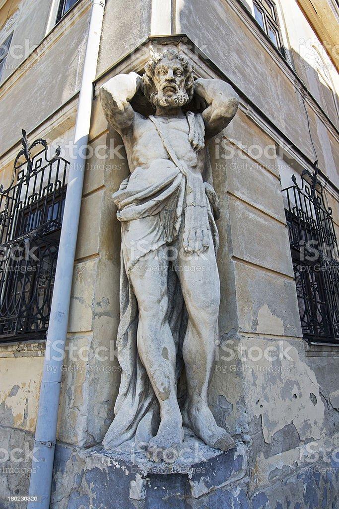 Atlant statue stock photo