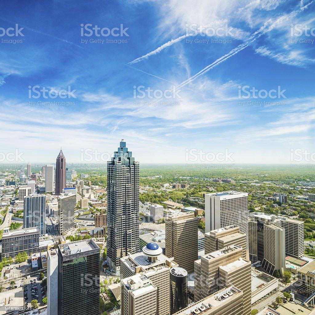 Atlanta Aerial View stock photo