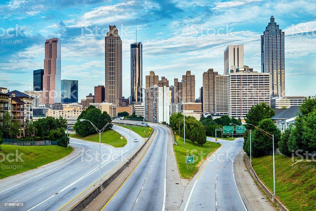 Atlanta downtown skyline stock photo