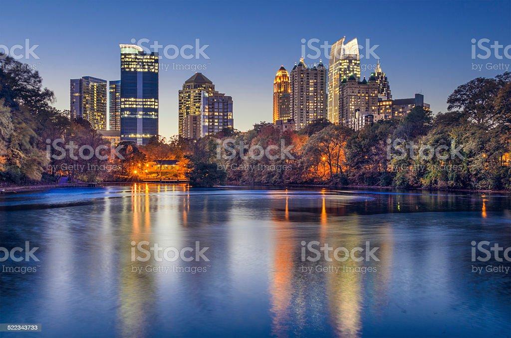Atlanta, Georgia Piedmont Park Skyline stock photo