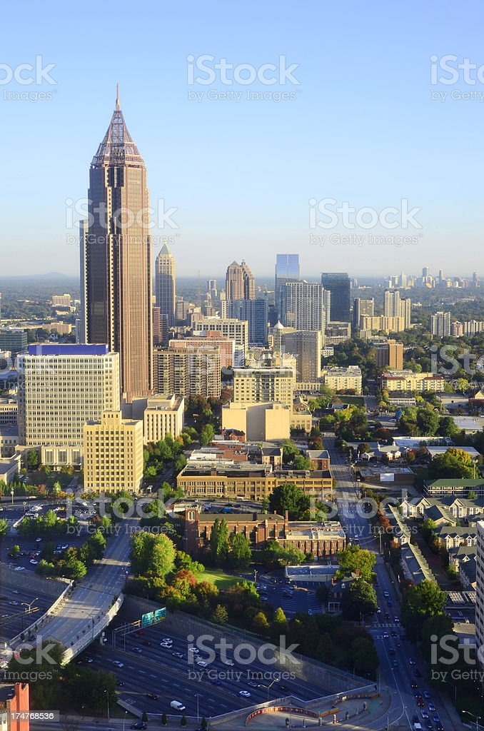 Atlanta, Georgia Skyline royalty-free stock photo