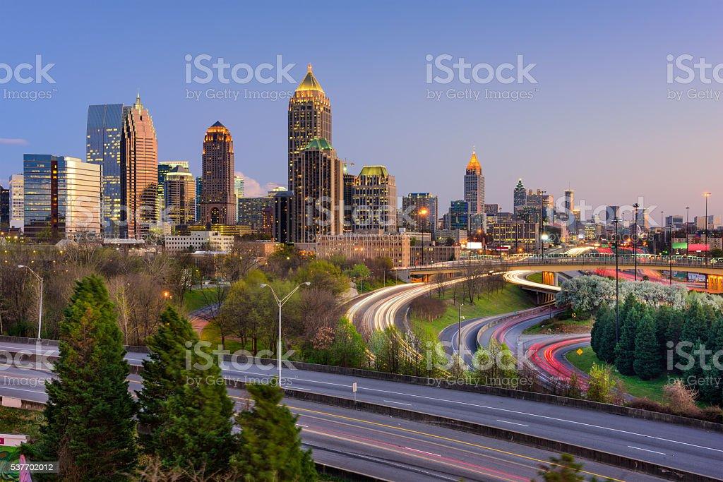 Atlanta Georgia Skyline stock photo