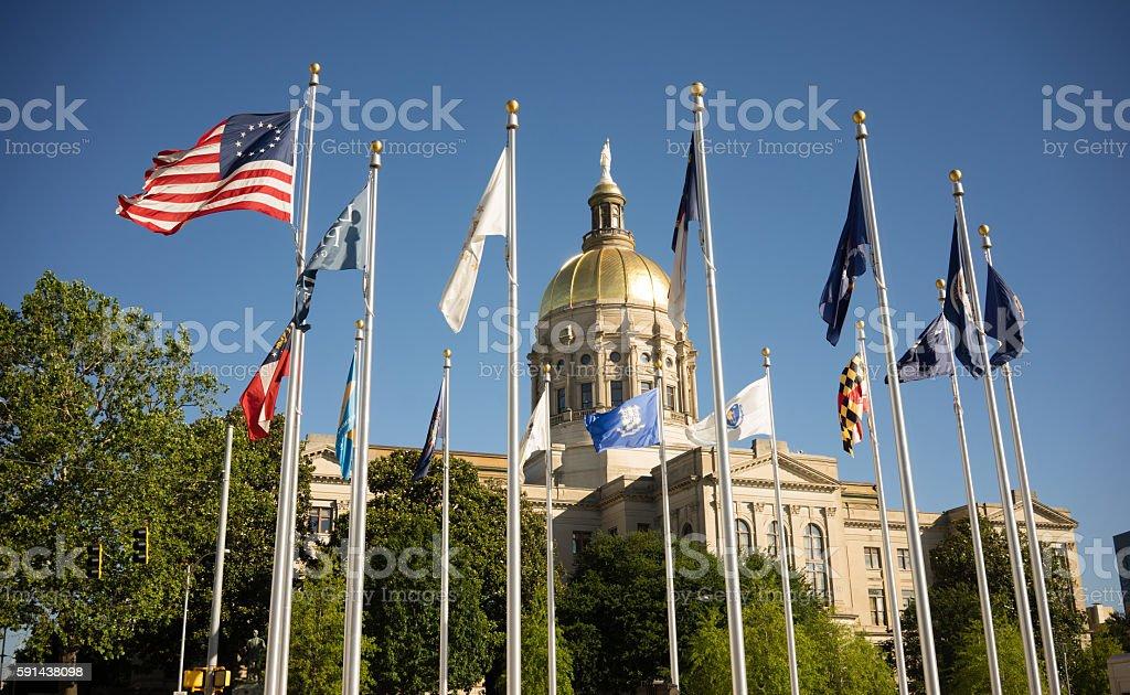 Atlanta Georgia State Capital Gold Dome City Architecture stock photo
