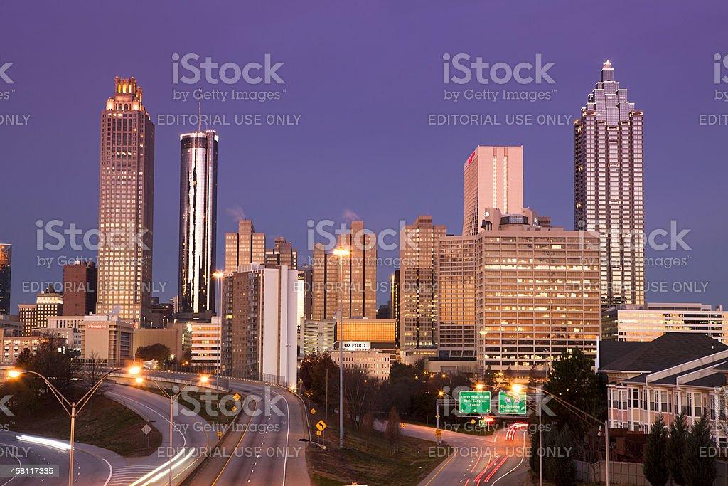 Atlanta Georgia USA downtown city skyline royalty-free stock photo