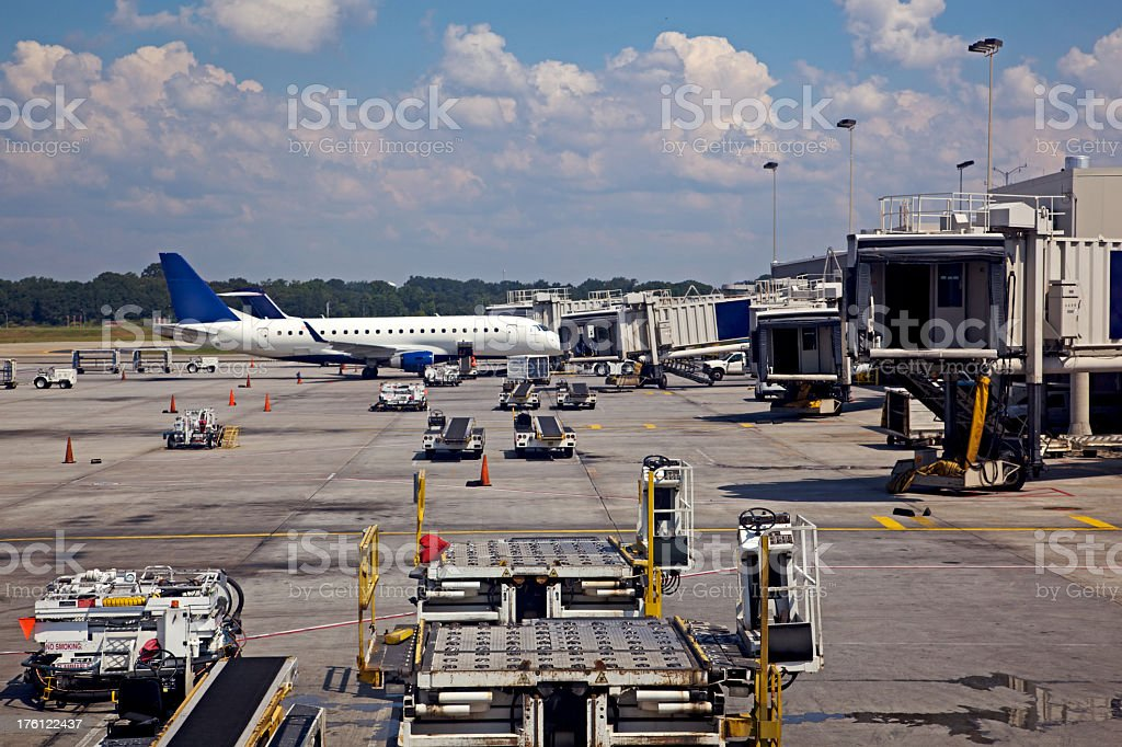 Atlanta International Airport Tarmac XXL royalty-free stock photo