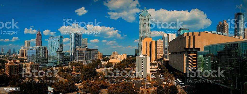 Atlanta Midtown - Panorama stock photo