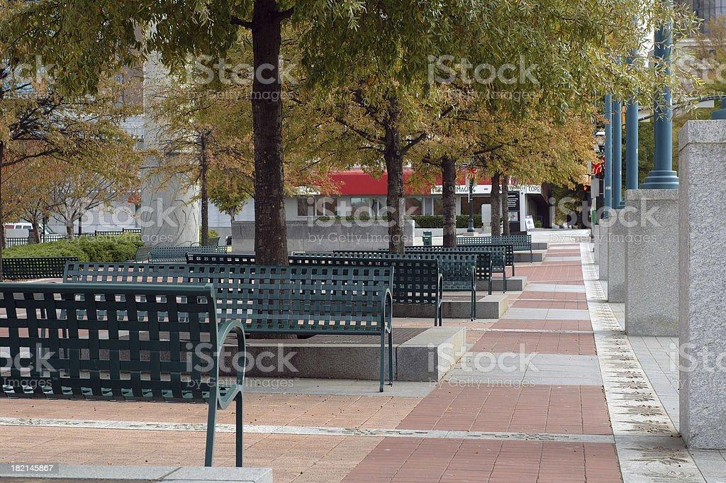 Atlanta Olympic Park bench area royalty-free stock photo
