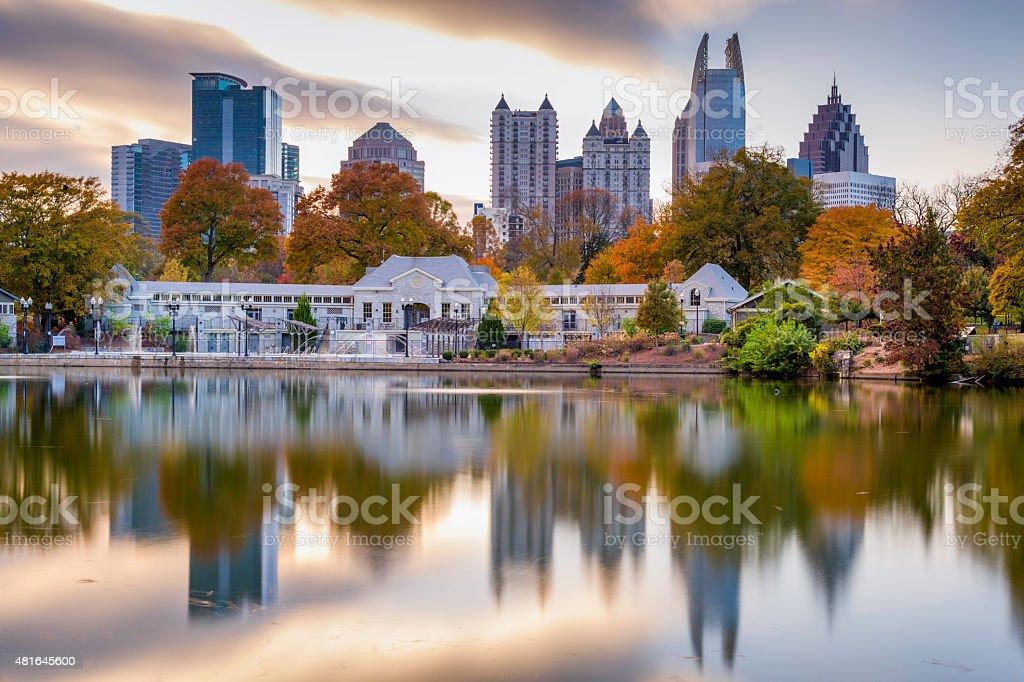 Atlanta Park Skyline stock photo