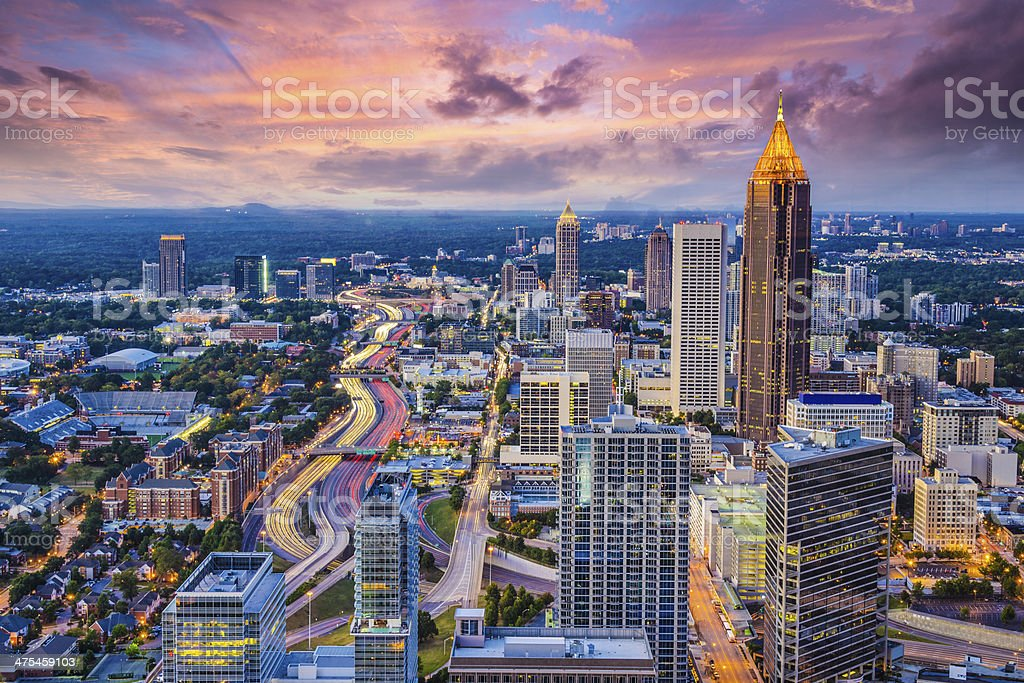 Atlanta Skyine stock photo