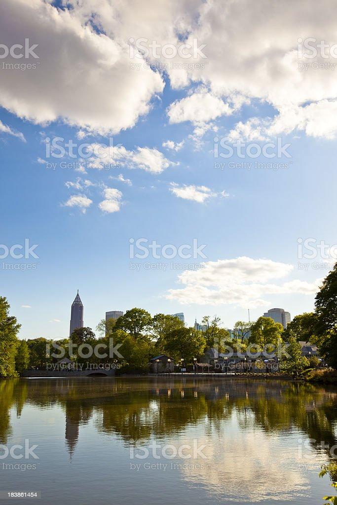 Atlanta skyline in Spring stock photo