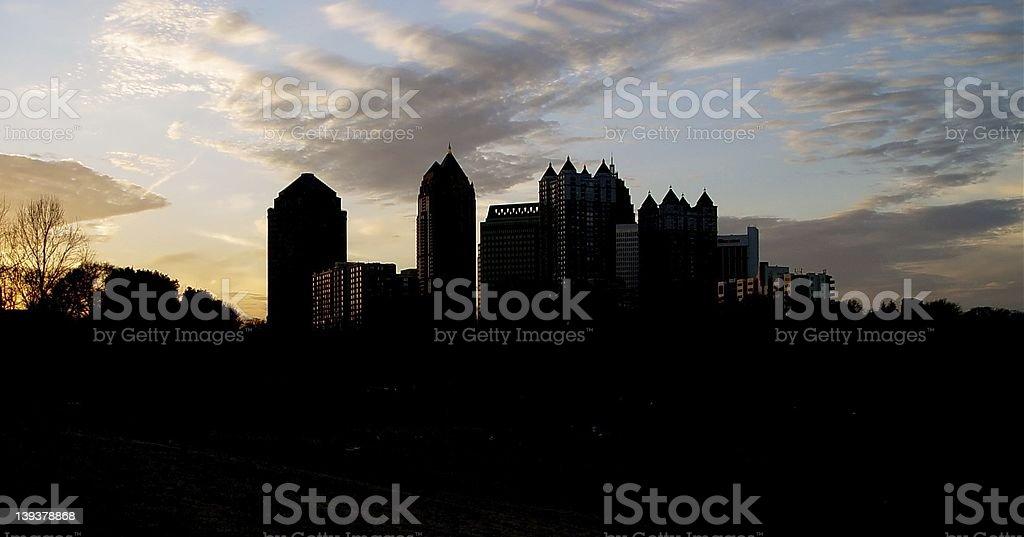 Atlanta Skyline. royalty-free stock photo