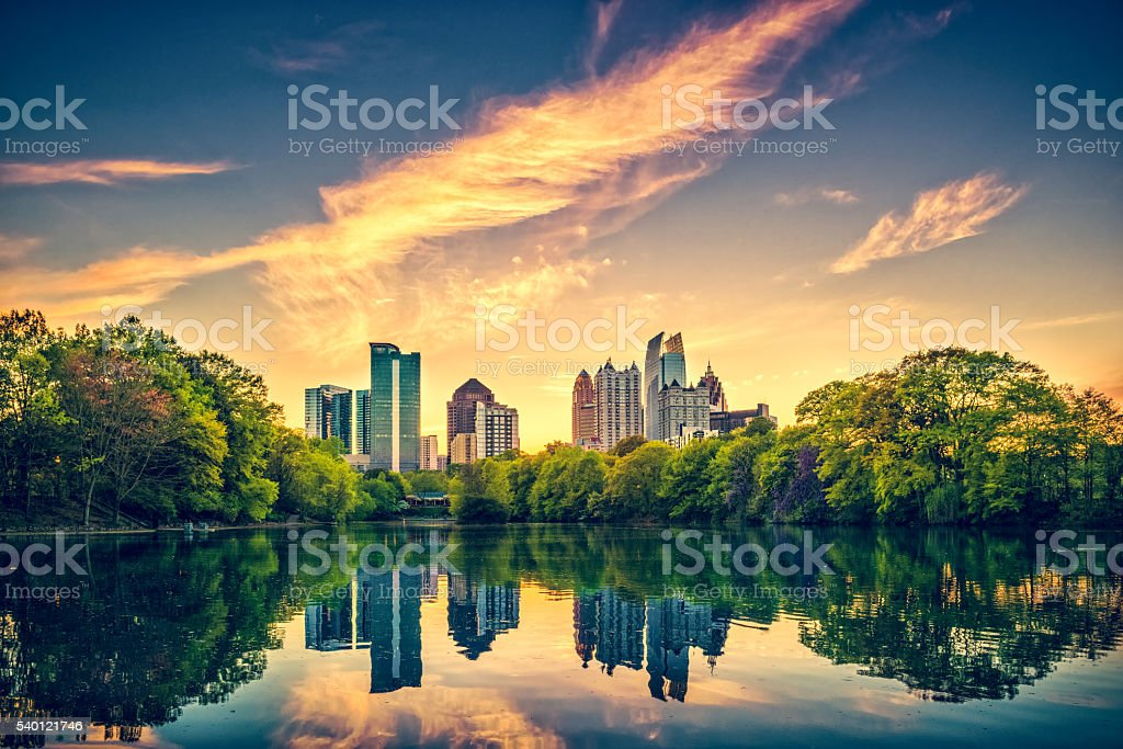 Atlanta Skyline stock photo