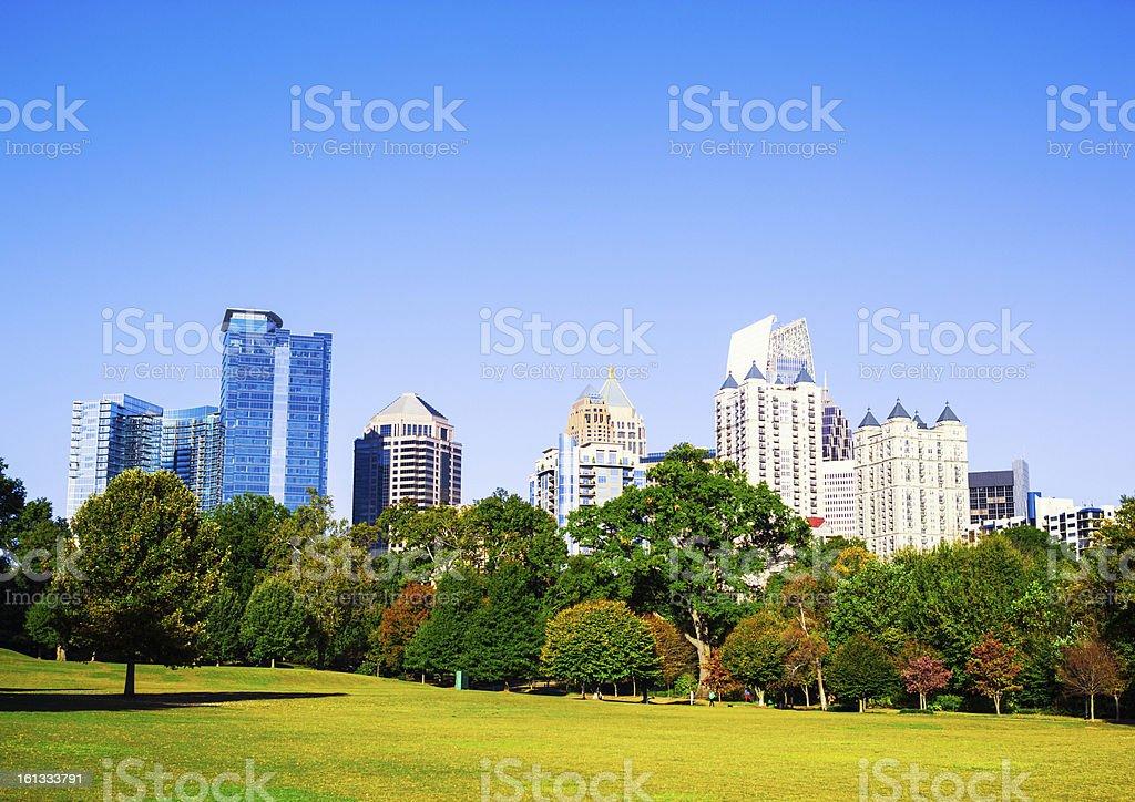 Atlanta Skyline, Piedmont Park royalty-free stock photo