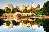 Atlanta Skyline Reflection