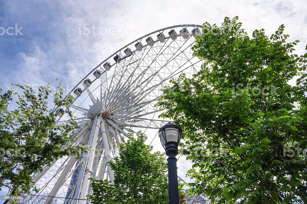 Atlanta Skyview Ferris Wheel Lizenzfreies stock-foto