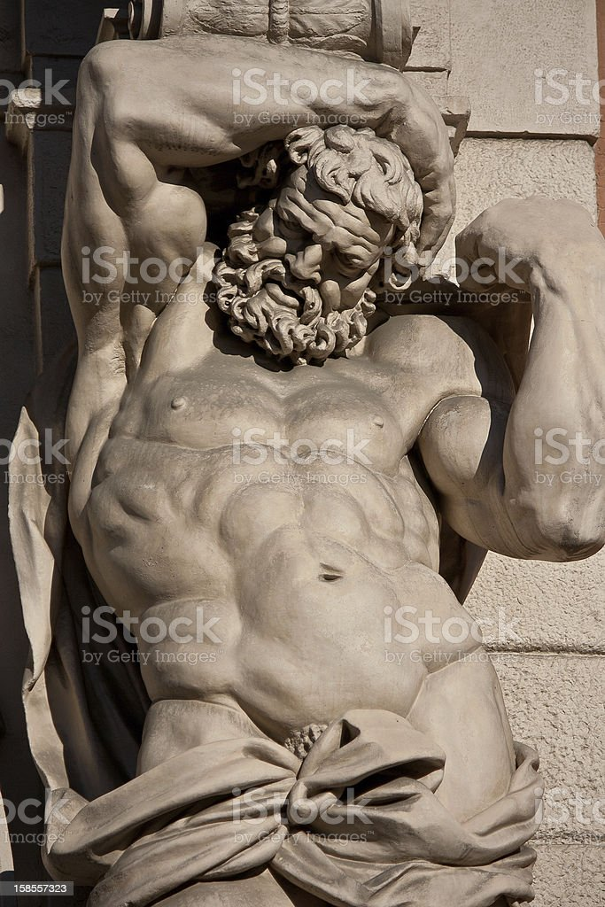 Atlante statue - bologna royalty-free stock photo