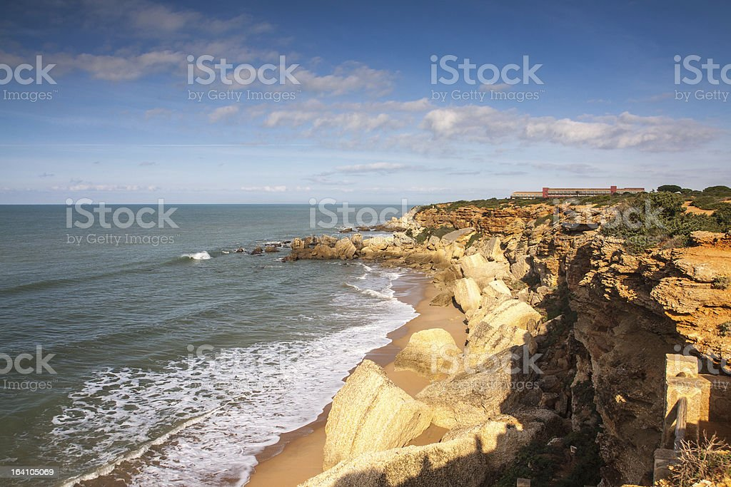 Atlantic Beach near Cadiz, Spain stock photo