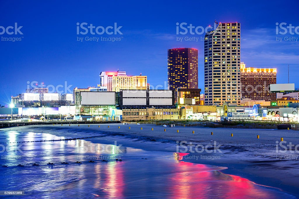 Atlantic City, New Jersey Cityscape stock photo