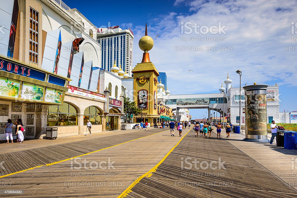 Atlantic City on the Boardwalk stock photo