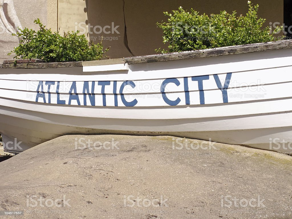 Atlantic City sign. stock photo