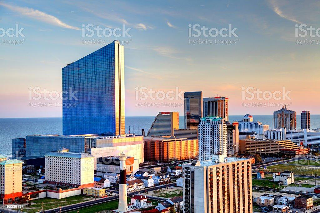 Atlantic City Skyline stock photo