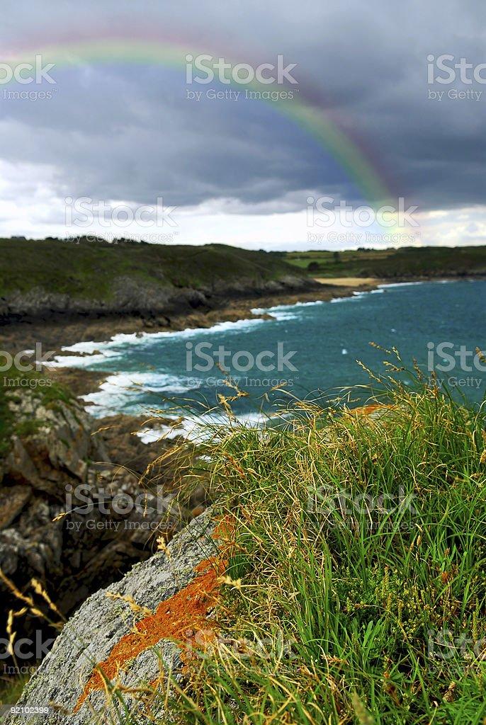 Atlantic coast in Brittany royalty-free stock photo