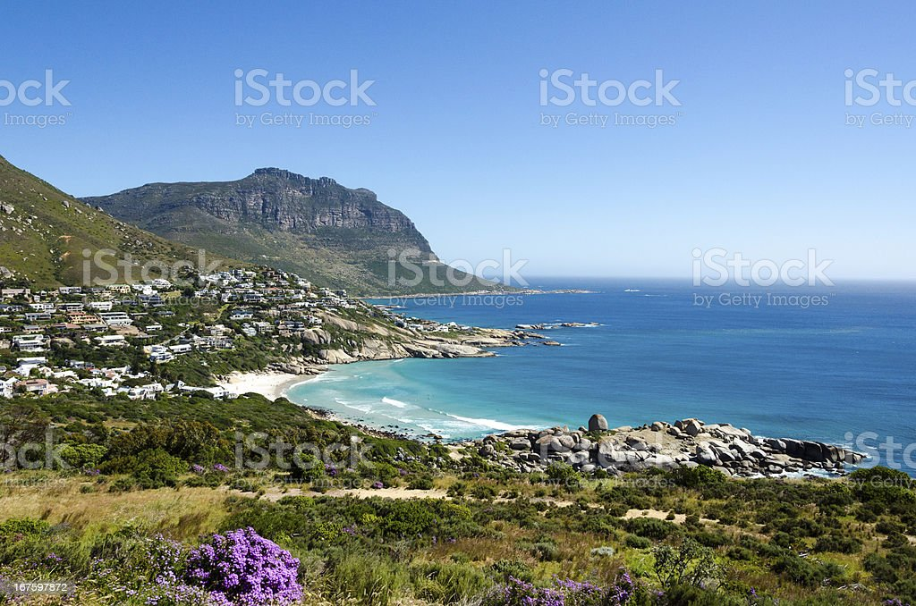 Atlantic Coastline of Camps Bay royalty-free stock photo