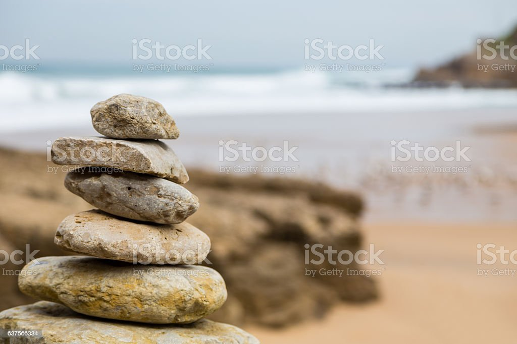 atlantic coastline with surfs in cloudy day stock photo